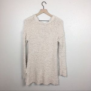 Kimchi Blue Dresses - NWT UO Teddy fuzzy v neck pullover tunic sweater